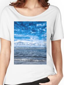 Cloudy day on the beach Women's Relaxed Fit T-Shirt