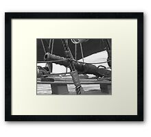 Cannon on a pirate ship Framed Print