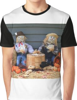 Scarecrows on brake don't guard harvest and crow eat corn Graphic T-Shirt