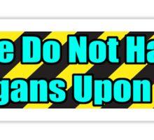 Organ Don'ter - Cyan Sticker