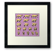 Turning Cat Framed Print
