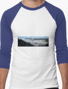 Blue Mtns panorama Men's Baseball ¾ T-Shirt