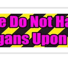 Organ Don'ter - Hot Pink Sticker