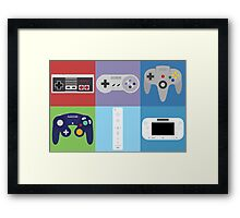Nintendo Console Controllers Framed Print