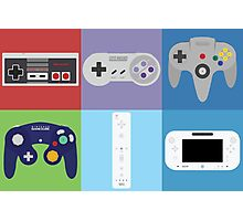 Nintendo Console Controllers Photographic Print