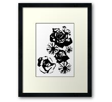 Roses and a Daisy Framed Print