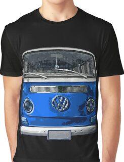 Volkswagen Blue combi cutout  Graphic T-Shirt