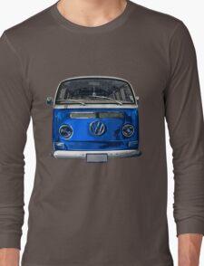 Volkswagen Blue combi cutout  Long Sleeve T-Shirt