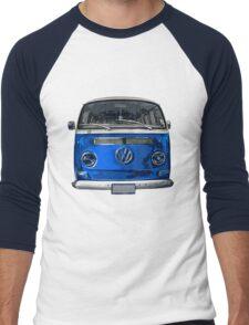 Volkswagen Blue combi cutout  Men's Baseball ¾ T-Shirt