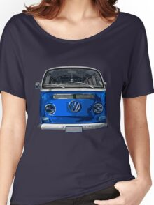 Volkswagen Blue combi cutout  Women's Relaxed Fit T-Shirt