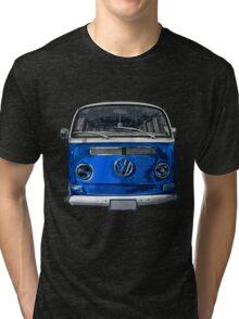 Volkswagen Blue combi cutout  Tri-blend T-Shirt