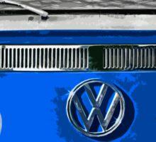 Volkswagen Blue combi cutout  Sticker