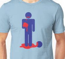 ZOMBIE man eating brains Unisex T-Shirt