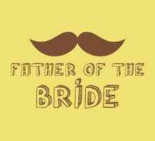Father of the Bride Mustache wedding theme Baby Tee