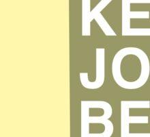 Keep JoCo Beige Sticker