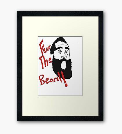 James Harden - Fear the Beard! #2 Framed Print
