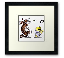 Calvin and Hobbes Dancing Framed Print