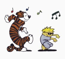Calvin and Hobbes Dancing Kids Tee