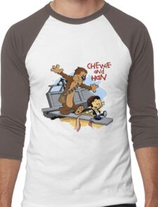 Calvin And Hobbes Parody Men's Baseball ¾ T-Shirt