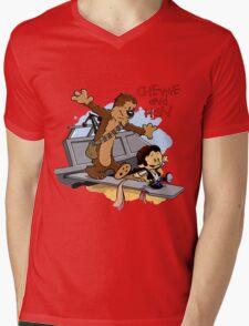 Calvin And Hobbes Parody Mens V-Neck T-Shirt