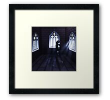 Haunted Interior and Ghost 3 Framed Print