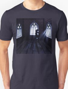 Haunted Interior and Ghost 3 Unisex T-Shirt