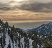 Mt. Baldy Sunset Sticker