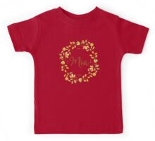 Mia lovely name and floral bouquet wreath Kids Tee