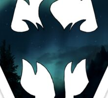 Skyrim Logo - Northern Lights Sticker