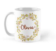 Olivia lovely name and floral bouquet wreath Mug