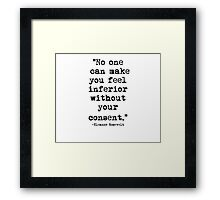 Eleanor Rosevelt Quote 1 Framed Print