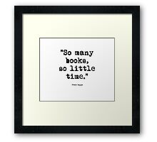 Frank Zappa Quote 1 Framed Print