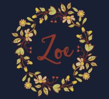 Zoe lovely name and floral bouquet wreath One Piece - Long Sleeve
