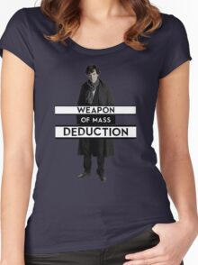 Sherlock - Weapon of Mass Deduction Women's Fitted Scoop T-Shirt