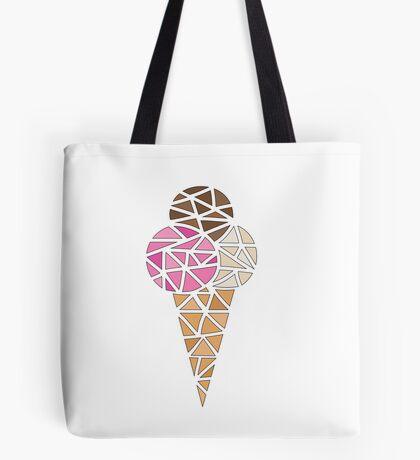 Neapolitan ice-cream Tote Bag