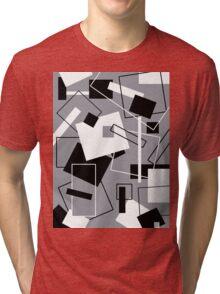 Black White & Grey 60's Style Tri-blend T-Shirt