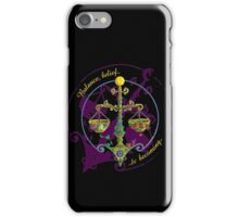BALANCE, BELIEF & BECOMING iPhone Case/Skin