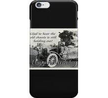 Vintage chassis, with Kangaroo skins, Happy Birthday, Humor. iPhone Case/Skin