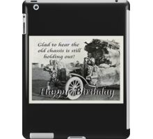 Vintage chassis, with Kangaroo skins, Happy Birthday, Humor. iPad Case/Skin