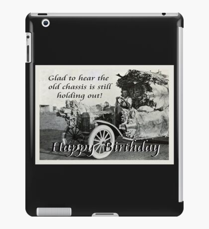Vintage chassis, with Kangaroo skins, Happy Birthday, Humor. iPad Case/Skin