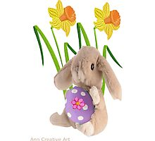 Rabbit with Easter egg Photographic Print