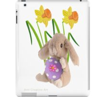 Rabbit with Easter egg iPad Case/Skin