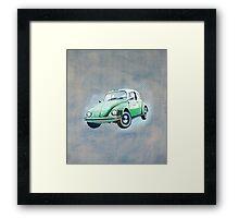 Retro beetle taxi Framed Print