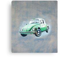 Retro beetle taxi Canvas Print