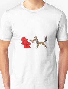 Dog and Hydrant Unisex T-Shirt