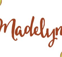 Madelyn lovely name and floral bouquet wreath Sticker