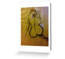 back of nude Greeting Card