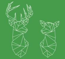 Geometric Stag and Doe Kids Tee