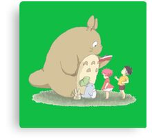 play with totoro Canvas Print
