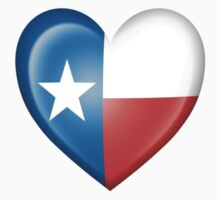 Texas Heart Flag One Piece - Short Sleeve